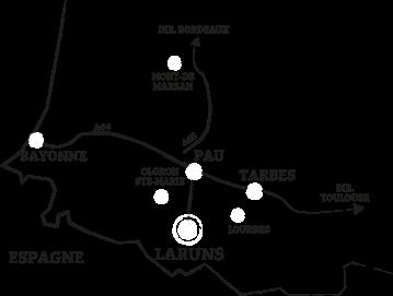 carte pays basque béarn