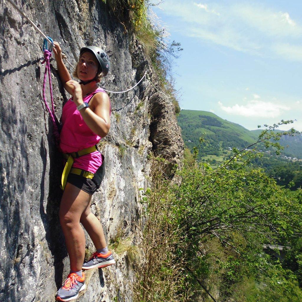 Via corda du Hourat dans les Pyrénées