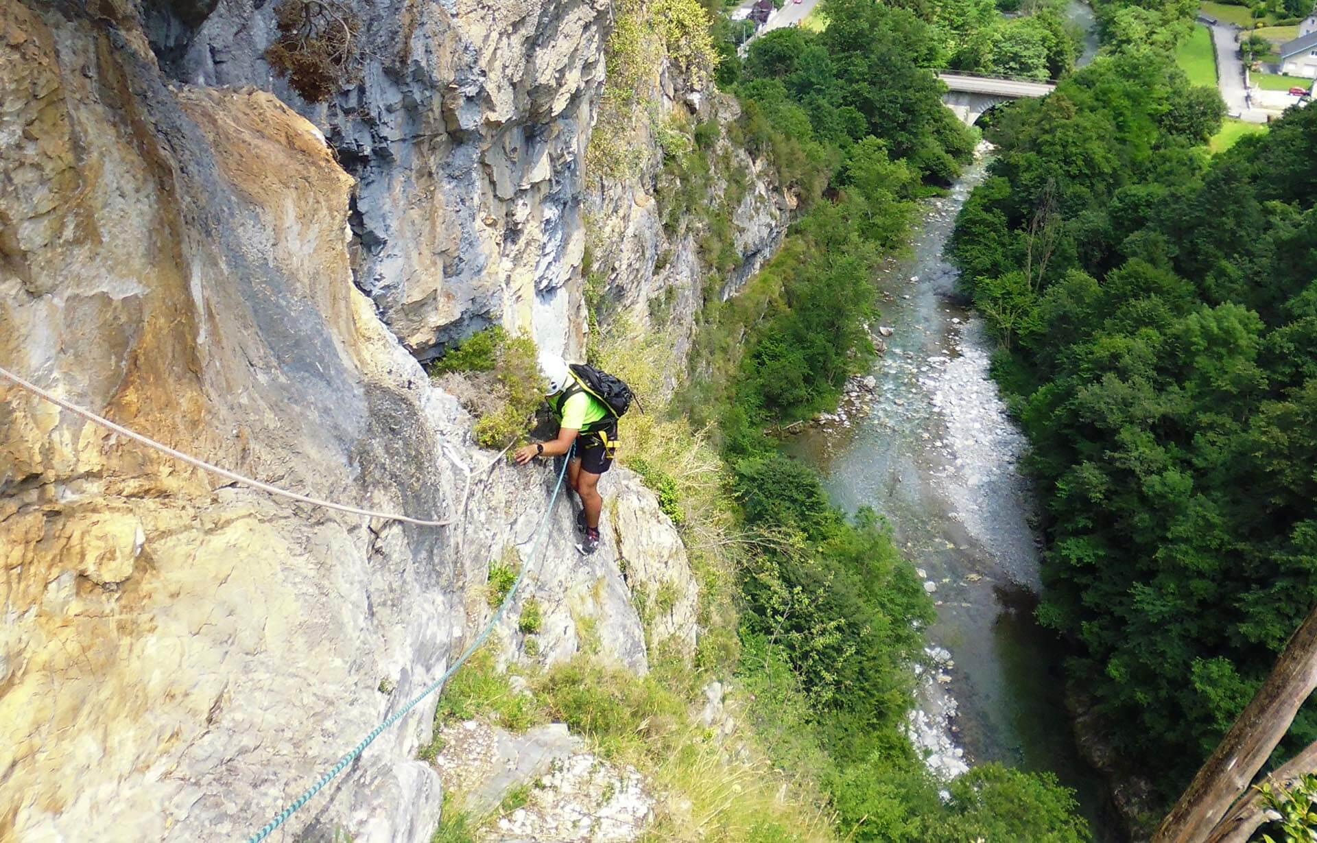 Via corda du Hourat en Vallée d'Ossau
