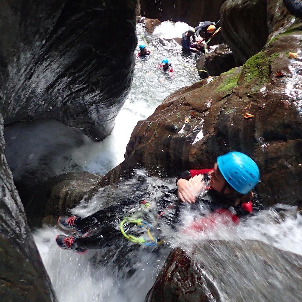 Canyon du Canceigt à Béost (Laruns-Pyrénées)