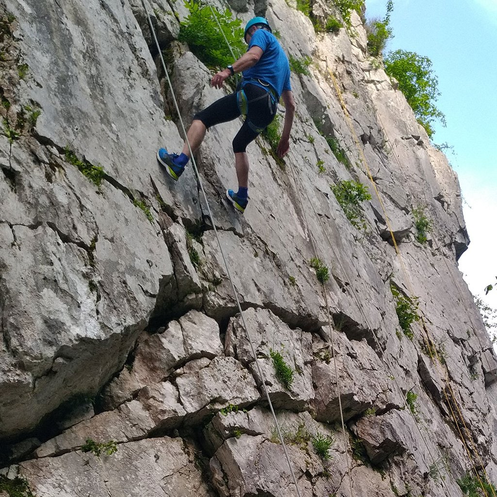 Escalade sur la Falaise d'Arudy (64)