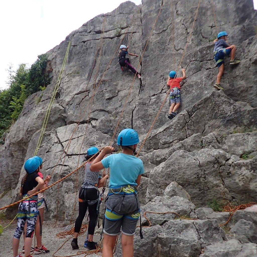 Escalade à Arudy (Pyrénées Atlantiques) avec des enfants