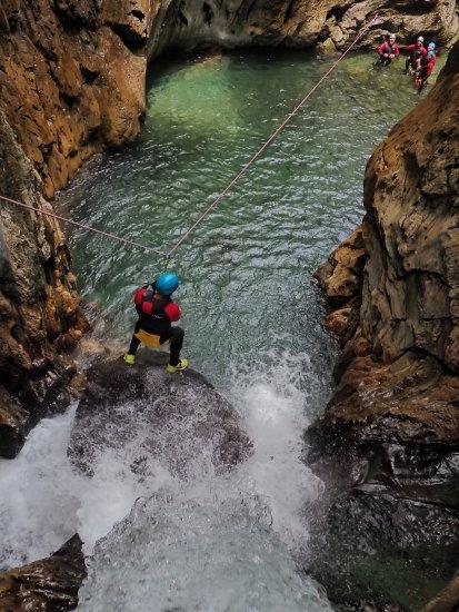 Canyon de Bious dans les Pyrénées Atlantiques (64)