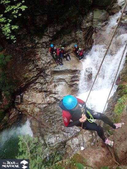 Rappel dans le canyon de Bious à 1h du Pays Basque