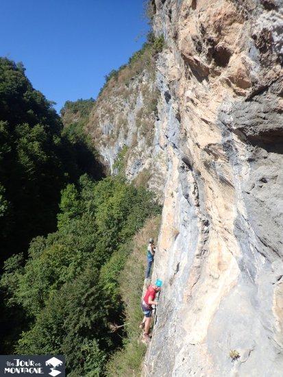 Via cordata du Hourat à Laruns (Pyrénées Atlantiques)