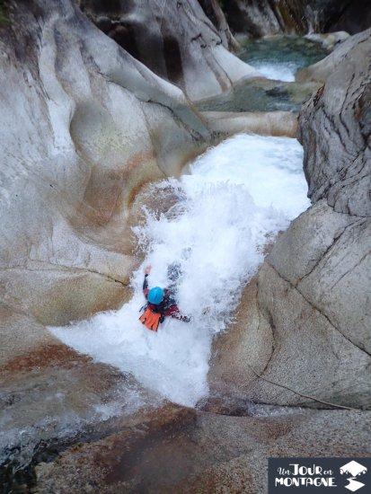 Toboggan du canyon du Soussouéou à Laruns (Vallée d'Ossau)