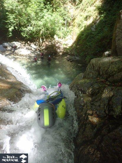Toboggan canyoning Bious dans les Pyrénées