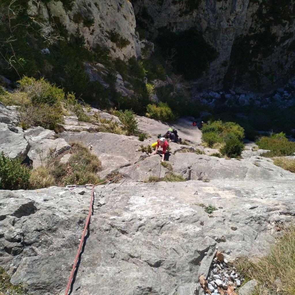 Escalade en grande voies au chemin de la Mâture (vallée d'Aspe)