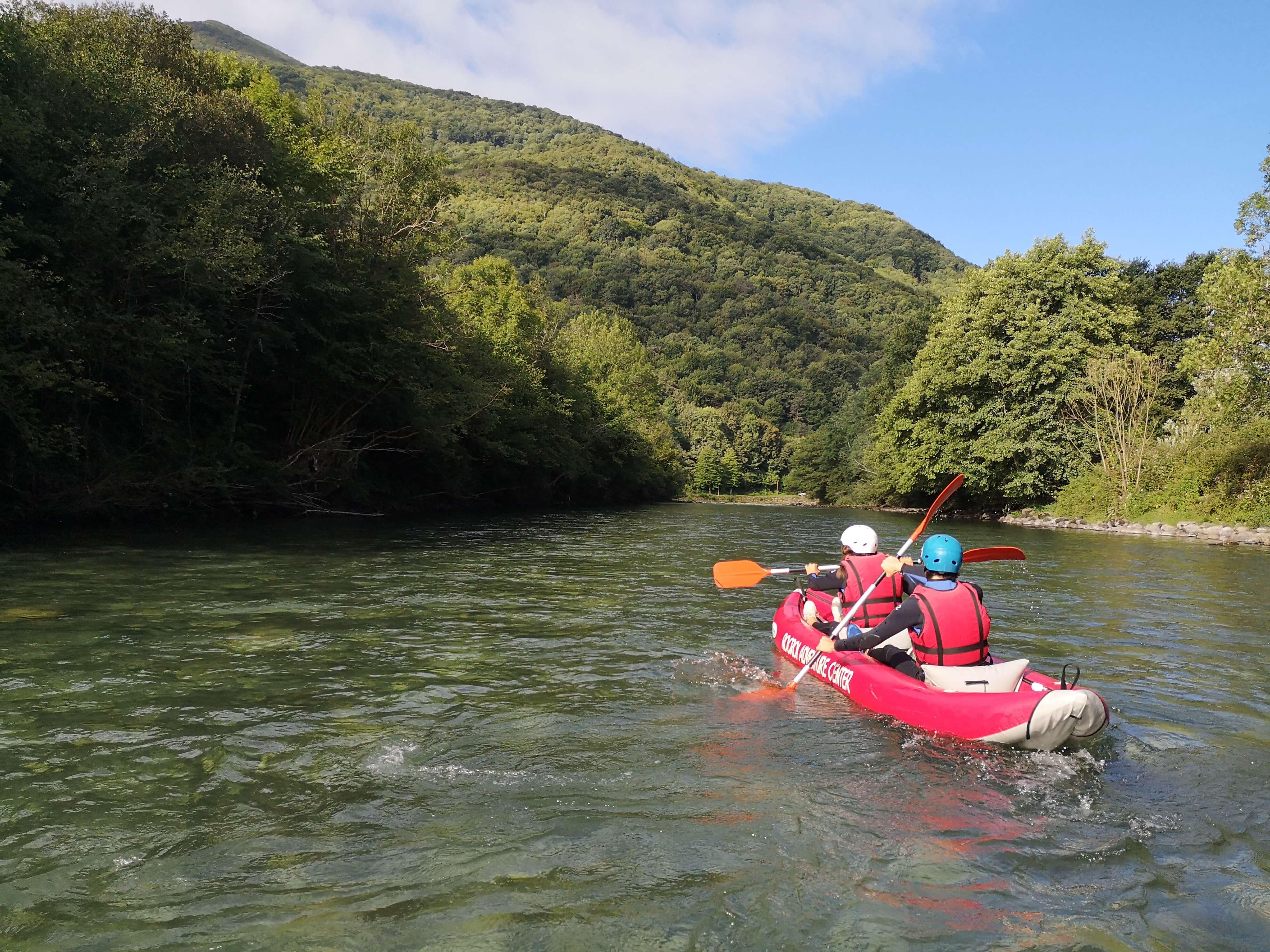 mini raft sur le gave de Pau